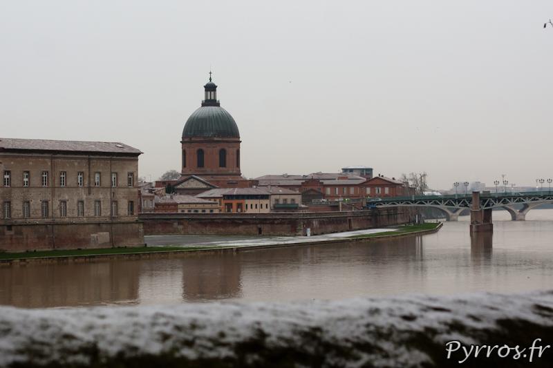 Neige à Toulouse, le 18/01/2013, la Garonne déborde