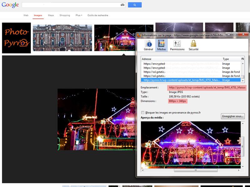 Google diffuse les photos plein format vie des hotlink. C'est la double peine pour les photographes.
