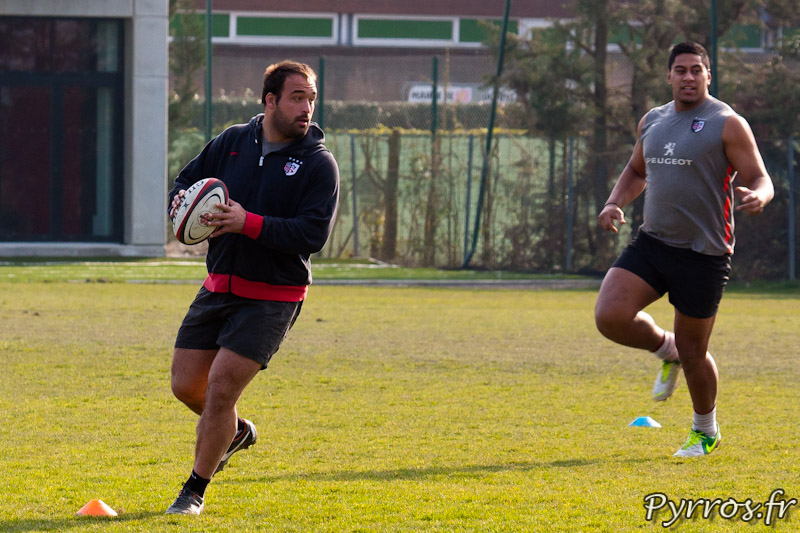 Yohan Montes et Edwin Maka, Entrainement du Stade Toulousain