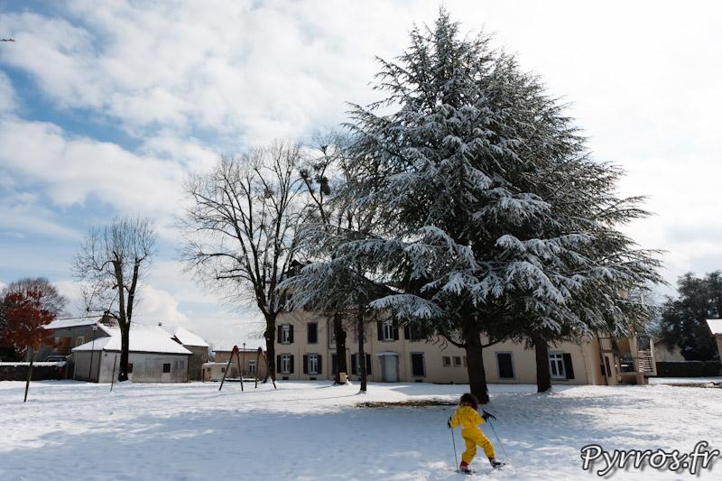 St Laurent de Neste, ski de fond dans le parc du centre d'accueil