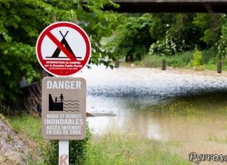 Quais et berges inondables a Toulouse, écluse Saint Michel