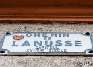 Plaque de rue Chemin de Lanusse
