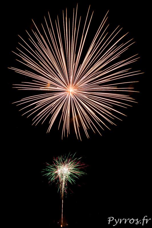 Pour clore les grandes fêtes de Balma un feu d'artifice est organisé