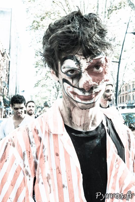 Clown ou zombie à la Marche des zombies 2013 à Toulouse
