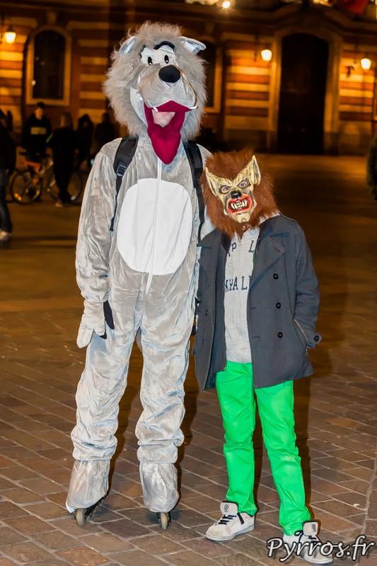 Loup et loup garou à la Randoween, organisée par Roulez Rose