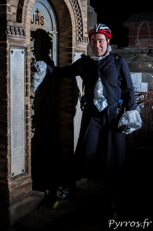Le comte de la crypte à la randoween, organisée par Roulez Rose