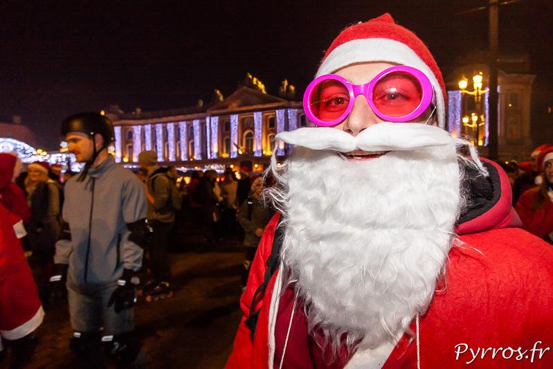 Père Noël Disco à la rando Père et Mère Noël de Purpan