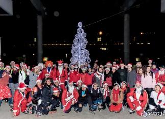 Ils étaient 135 à participer à la randonnée Père et Mère Noël de Purpan organisée par Roulez Rose