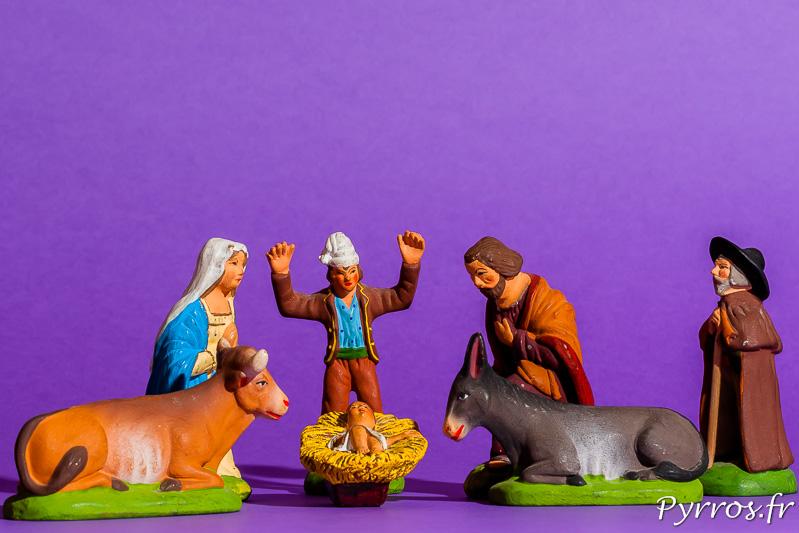 Crèche provençale une scène de la nativité