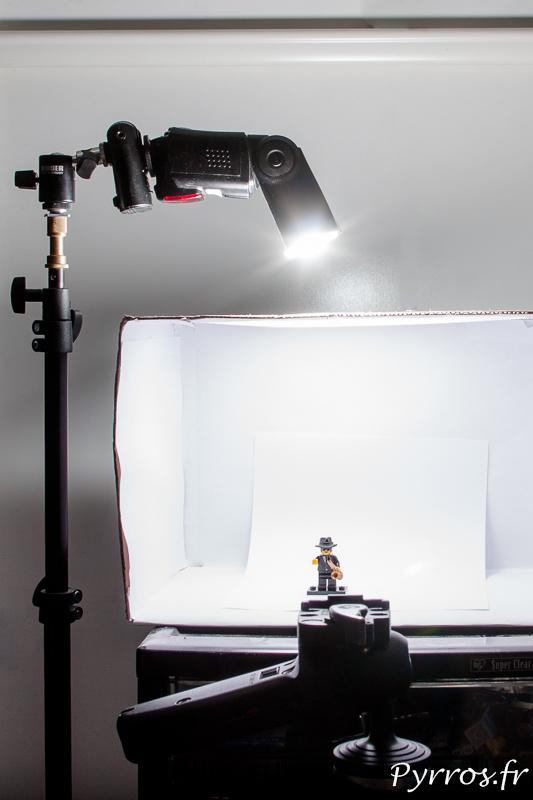 Utiliser une boite à lumière permet de simplifier les conditions de lumière