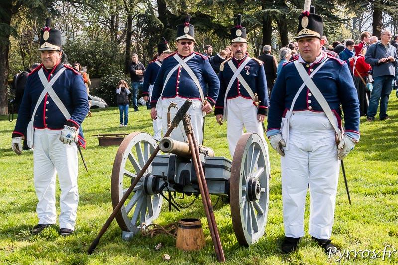 Troupe d'artilleurs venus du Portugal spécialement pour le bicentennaire de la Bataille de Toulouse