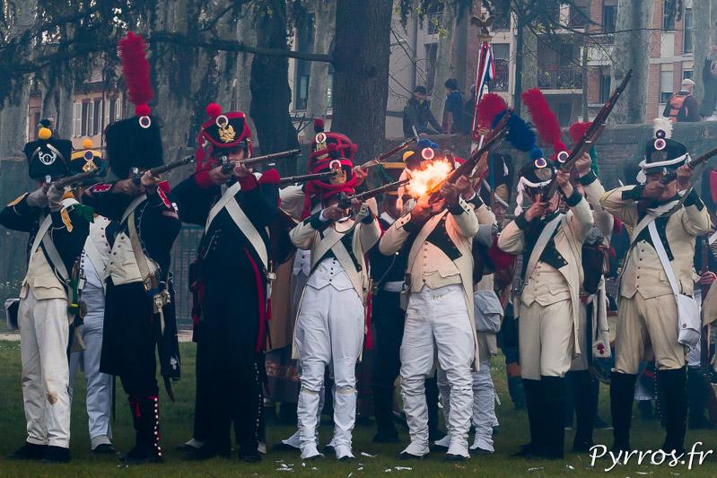 Sous le regard des toulousains les tirs se succèdent comme le 10 avril 1814