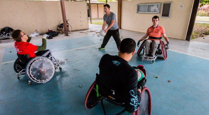 Entrainement Quad Rugby ASEI, centre Pierre Froment