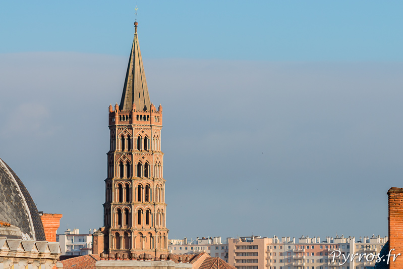 Basilique Saint Sernin depuis le parking Victor Hugo