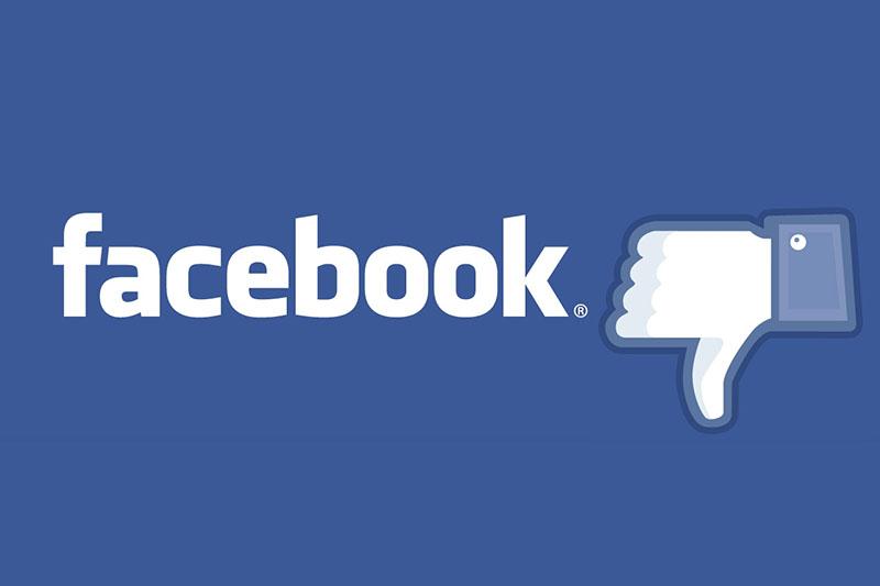 log Facebook pouce vers le bas