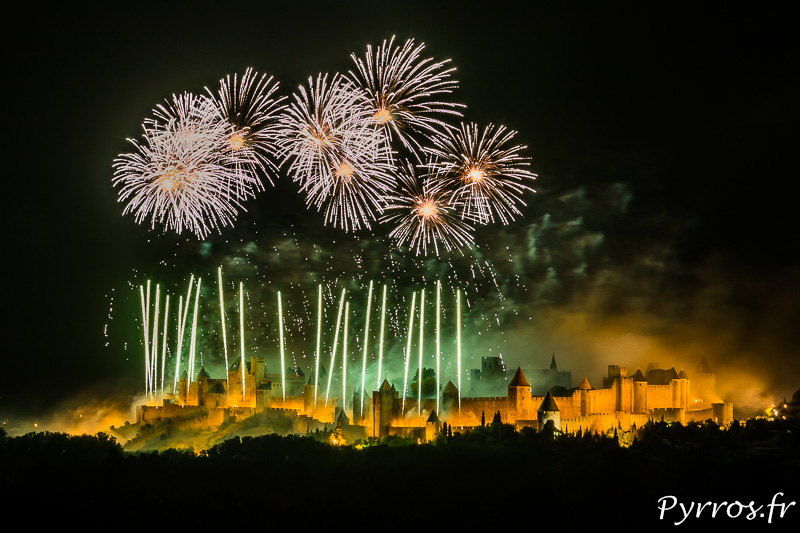 Plus belle photo du Feu d'artifice de Carcassonne
