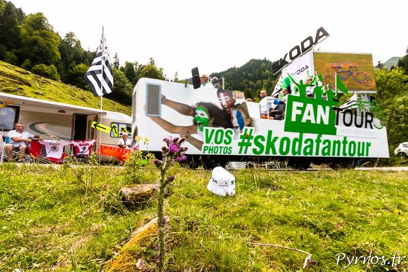 Caravane publicitaire du Tour de France dans le port de Balès, #SkodaFanTour