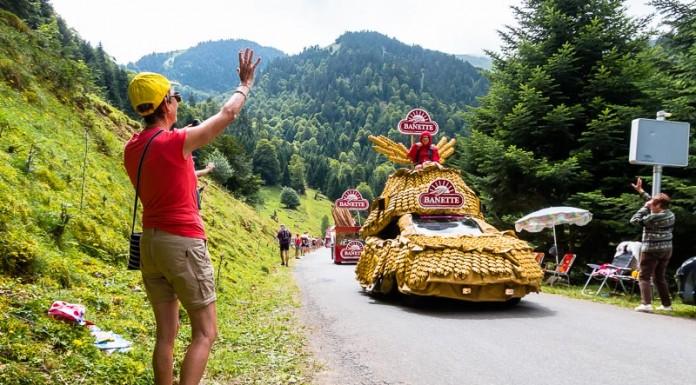 Caravane publicitaire du Tour de France dans le port de Balès, Banette