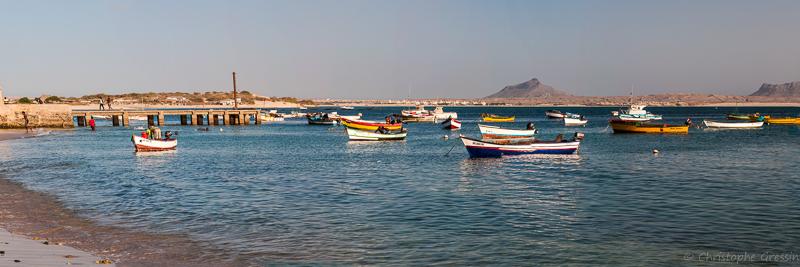 Vue du vieux port de Sal Rei (Boa Vista, Cap Vert) par Christophe Gressin