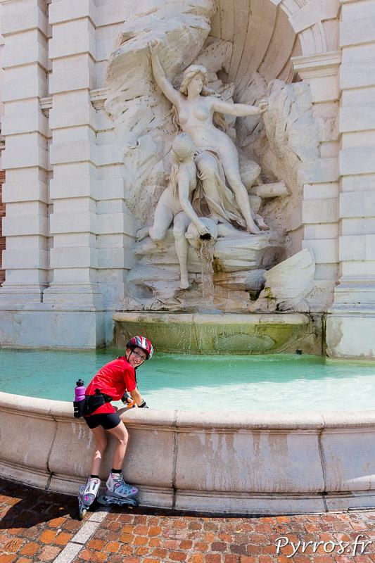 Autour de la première fontaine ce n'est pas la cohue