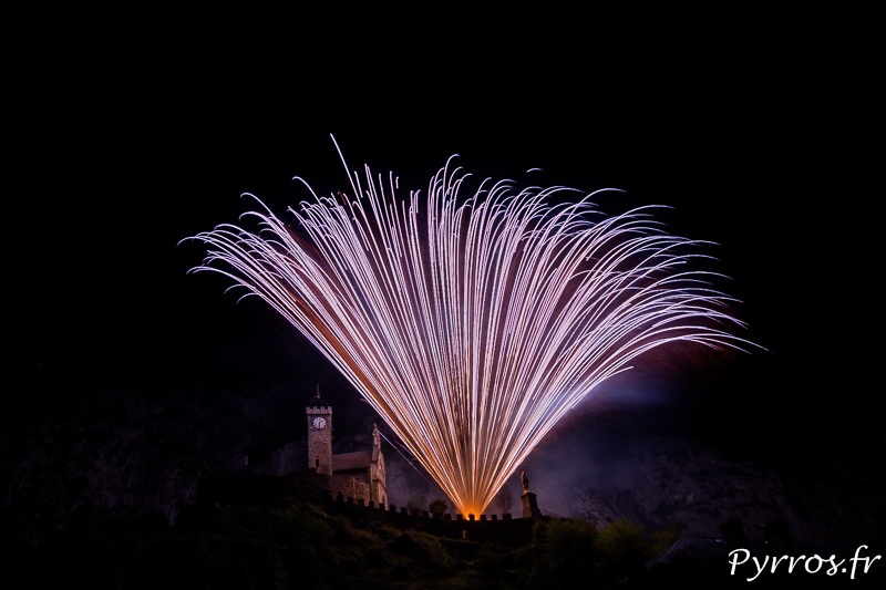 Feu d'artifice à Saint Béat