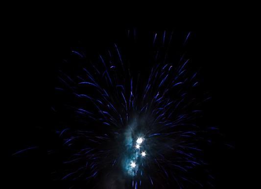 Luchon tire le feu d'artifice au dessus des Thermes