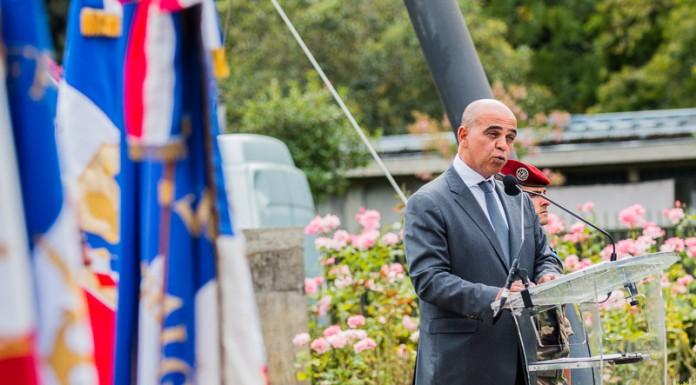 Kader ARIF (secrétaire d'État chargé des Anciens combattants et de la Mémoire) prononce un discours