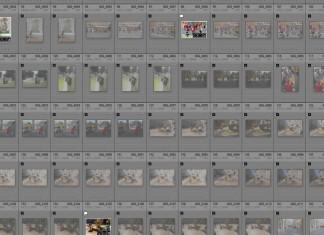 Exemple de planche contact, rares sont les photos selectionnées