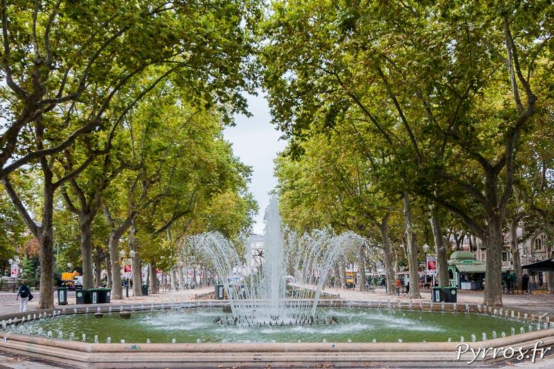 Fontaine de l'Esplanade Charles-de-Gaulle à Montpellier