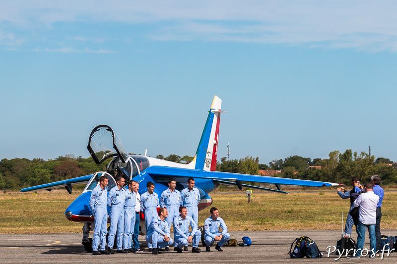Photo des pilotes avec Michel Drucker ancien parrain de la PAF