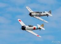Les T6 rejouent les batailles du Pacifique dans le ciel de Francazal