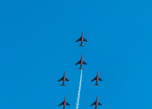 Patrouille de France en formation Apollo