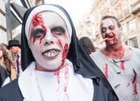 Même chez les bonne sœur il y a des zombies qui participent à la zombies walk de Toulouse