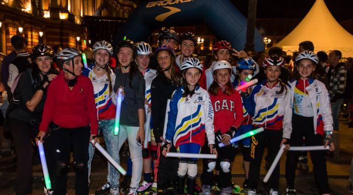 L'équipe de vitesse de Valence d'Agen participe à la randonnée des Jeux du roller