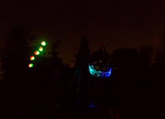 Le rollerman lumineux de la Randoween
