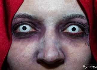 Le regard perçant de la randonnée roller Halloween