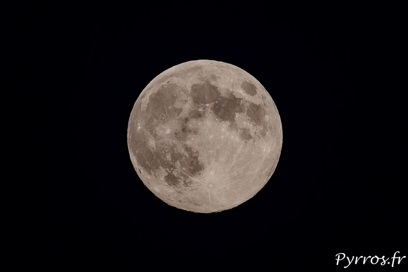 Photo de la pleine lune