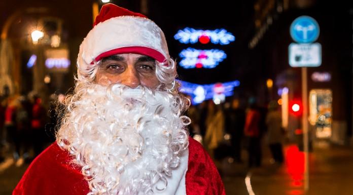 Le Père Noël a accompagné les patineurs durant toute la soirée