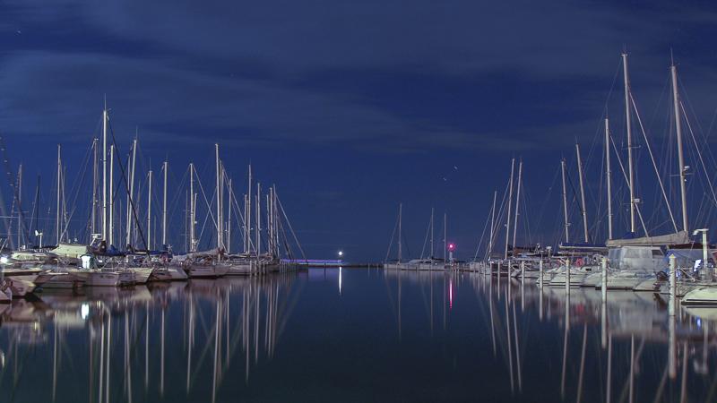 Port Camargue à la pleine lune