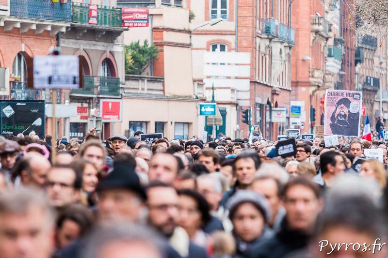 Une foule compact pour cette marche de soutien, les oraganisateurs annoncent 200'000 particpants