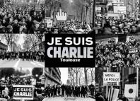 Véritable marée humaine dans les rue de Toulouse en hommage aux victimes des terroristes lors de la marche Républicaine du 10/01/2015