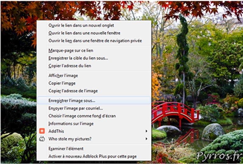 Interdire le clic droit sur les photos