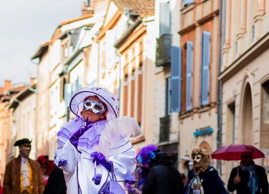 Parade en costume vénitien à Toulouse
