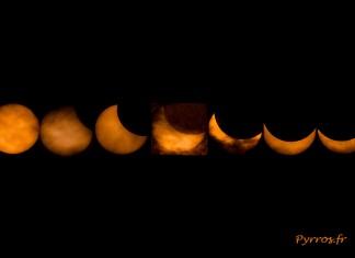Chapelet réalisé lors de l'éclipse solaire du 20 Mars 2015 Toulouse - France