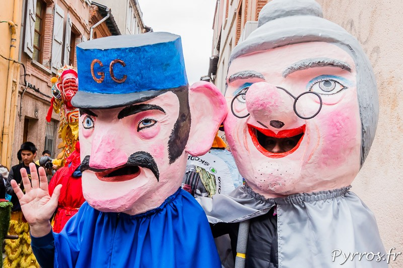 Les grosses tètes du Carnaval de Toulouse