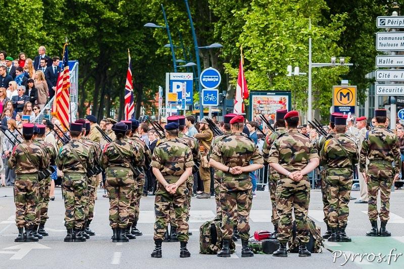 Les militaires sont présents lors de la commémoration