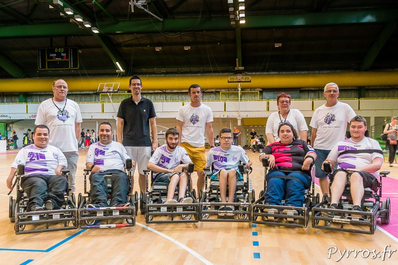L'équipe du Toulouse Foot Fauteuil Club