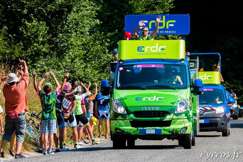 Caravane du Tour de France 2015, ERDF fait danser les spectateurs