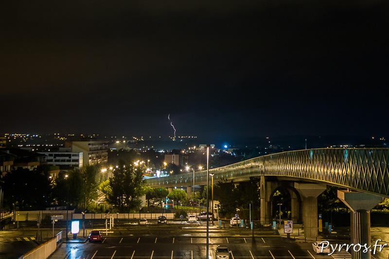 L'Orage Nocturne après avoir contourné Toulouse