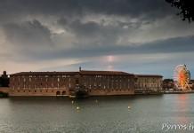 La foudre tombe à l'ouest de Toulouse entre Colomiers et Leguevin
